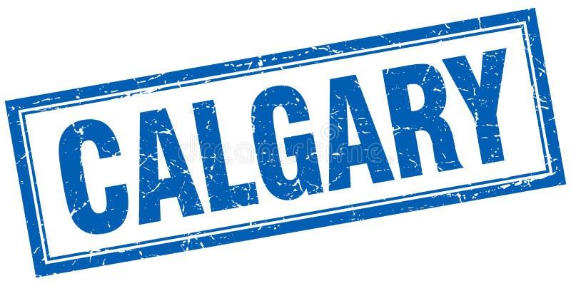 Calgary stamp. Calgary square grunge stamp. Calgary sign. Calgary royalty free illustration