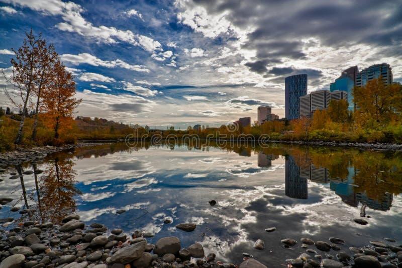 Calgary-Stadt HDR stockfotografie
