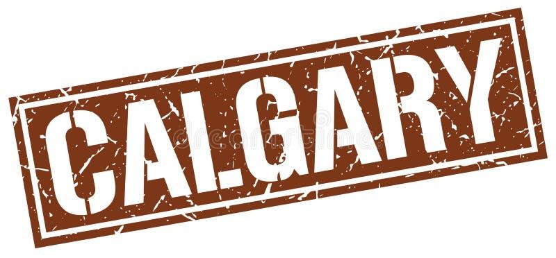 Calgary stamp. Calgary square grunge sign isolated on white. Calgary stock illustration
