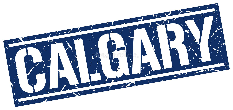 Calgary stamp. Calgary square grunge sign isolated on white. Calgary royalty free illustration
