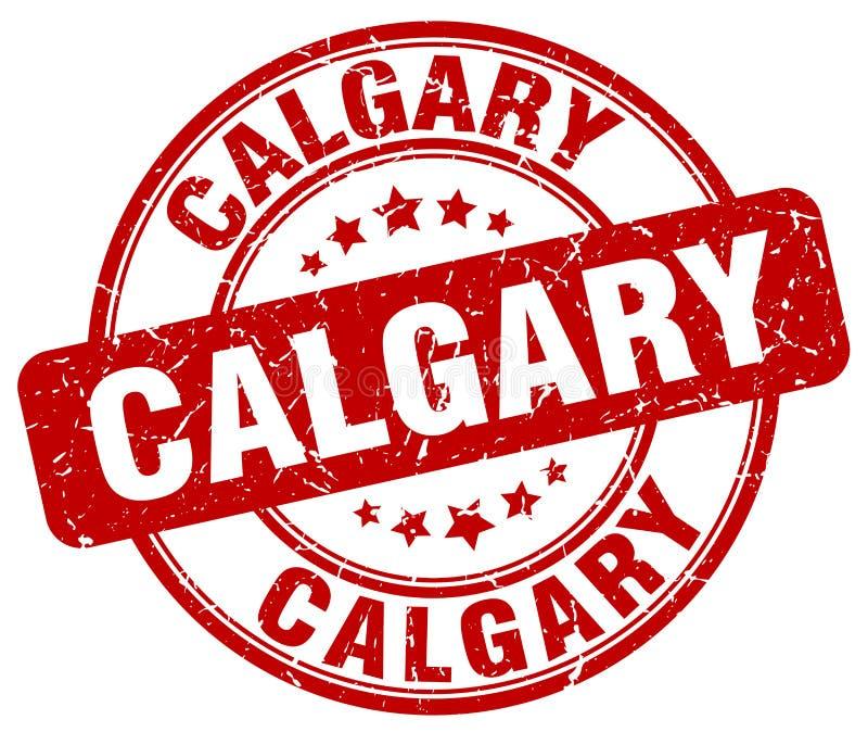 Calgary stamp. Calgary round grunge stamp isolated on white background. Calgary stock illustration
