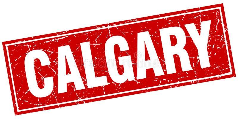 Calgary stamp. Calgary square grunge stamp isolated on white background stock illustration