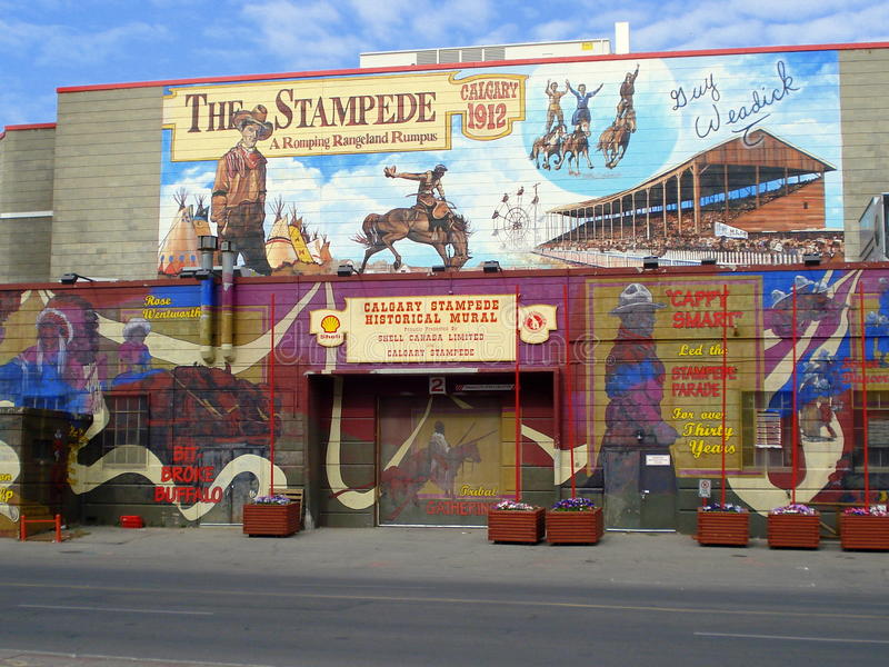 Calgary, the Stampede. Calgary is the main city in the province of Alberta, Canada. The Calgary Stampede is a not-for-profit community organization that stock illustration