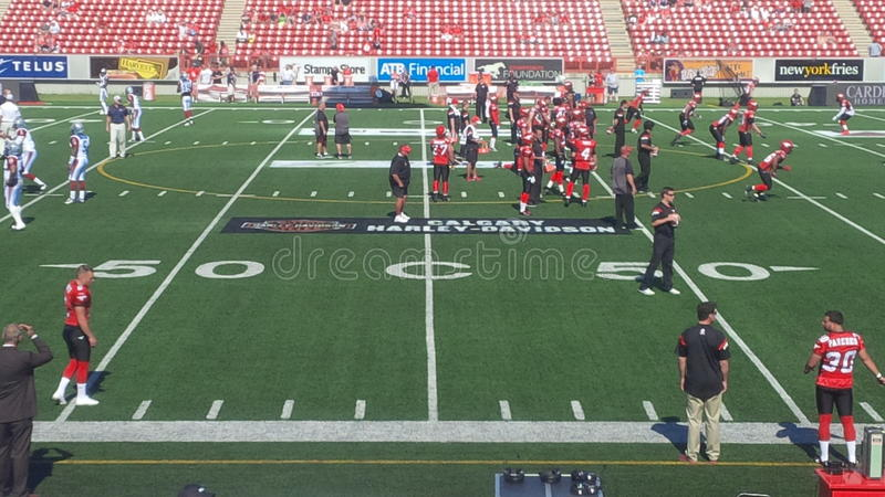 Calgary Stampeders Game Day royalty free stock photo