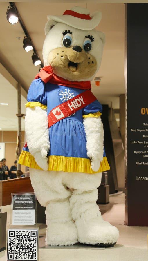 Calgary zimy olimpiad maskotka Hidy zdjęcia stock