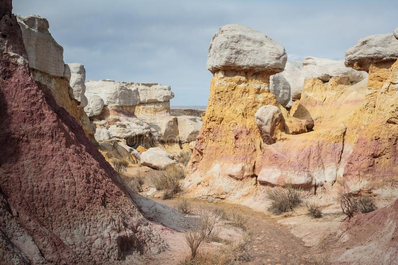 Calhan Paint Mines - Colorado royalty free stock image