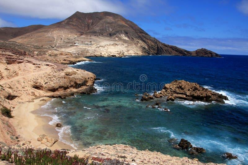 Calhau DA Serra Landschaft, Porto Santo stockfoto