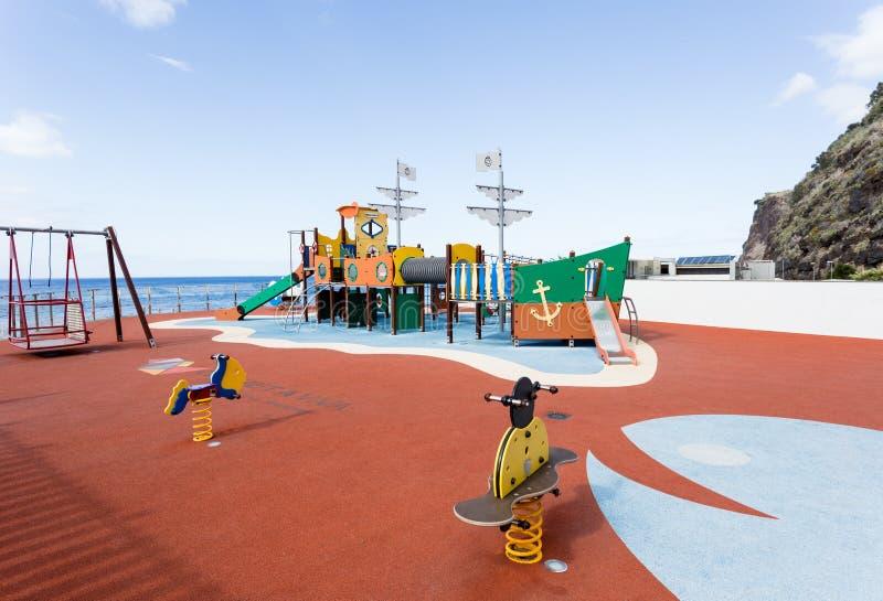 Calheta, ilha da Madeira, Portugal 26 de setembro de 2019, playground fotos de stock royalty free