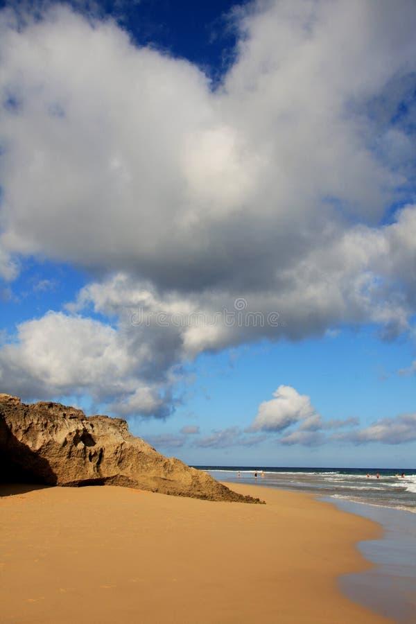 Calheta Strand, Porto Santo stockbilder