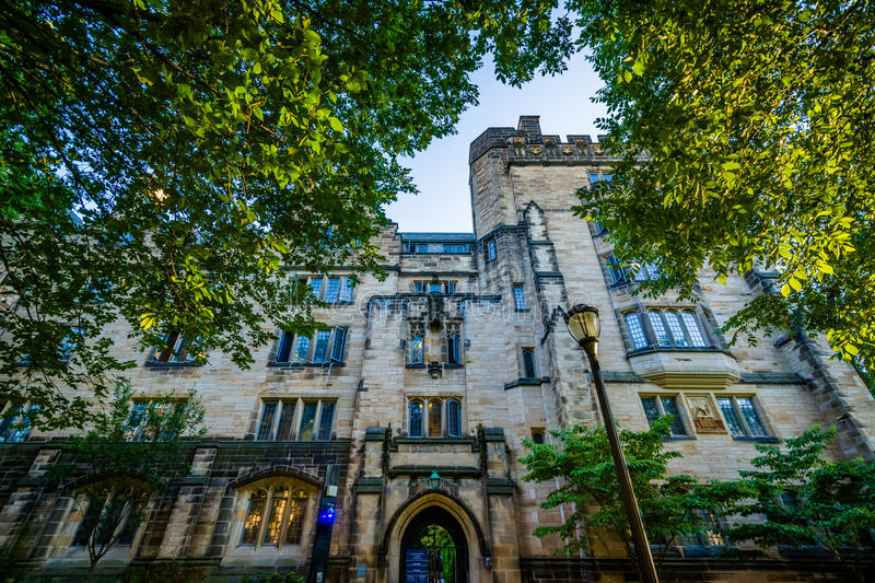 Calhoun College, on the campus of Yale University, in New Haven, Connecticut. royalty free stock photos