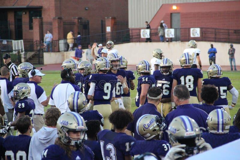 Calhoun vs. Cartersville Football Game stock image
