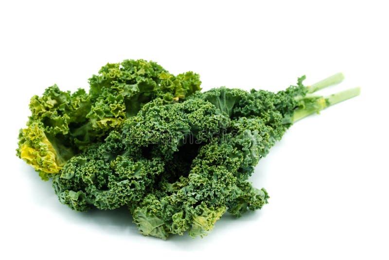 Cali Kale liście odizolowywający na białym tle obrazy royalty free