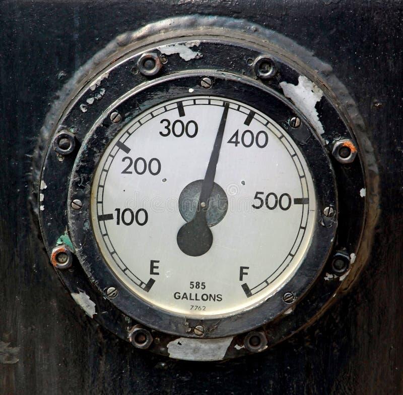 Calibrador de combustible foto de archivo