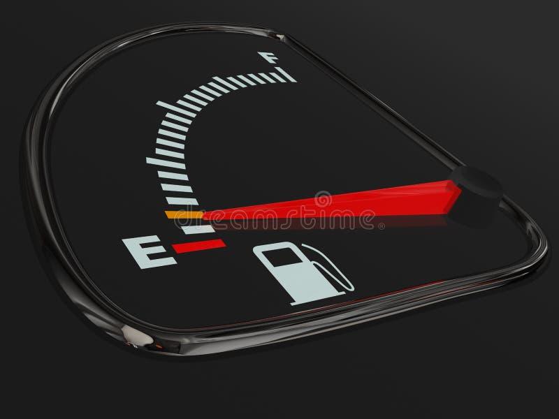 Calibrador de combustible vacío stock de ilustración