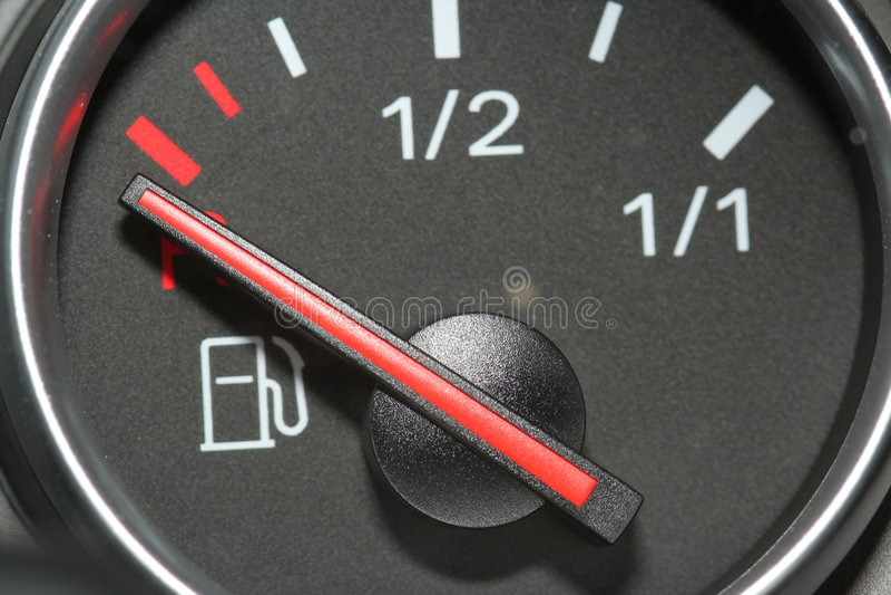 Calibrador de combustible vacío imagen de archivo libre de regalías