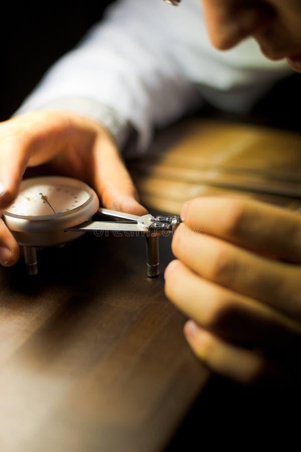 Calibrador de la medida de la relojería imagen de archivo libre de regalías