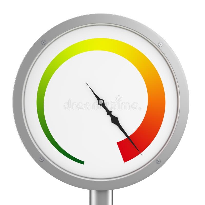 Calibrador de presión ilustración del vector