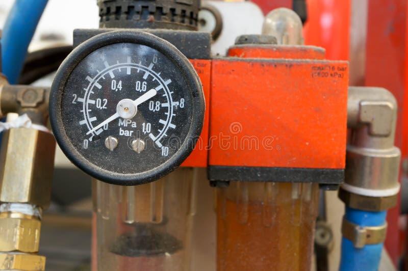 Calibrador De Presión De Aire Del Coche Imagenes de archivo