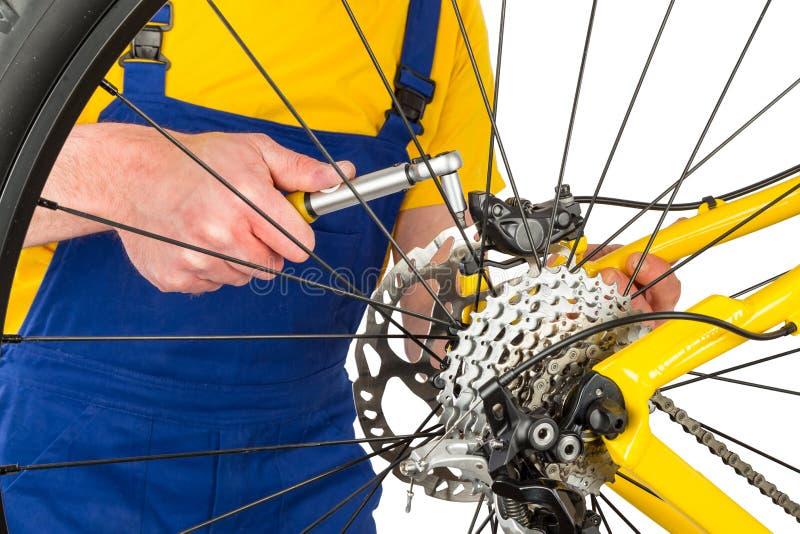 Calibrador del freno del montaje en la bici de montaña fotos de archivo libres de regalías
