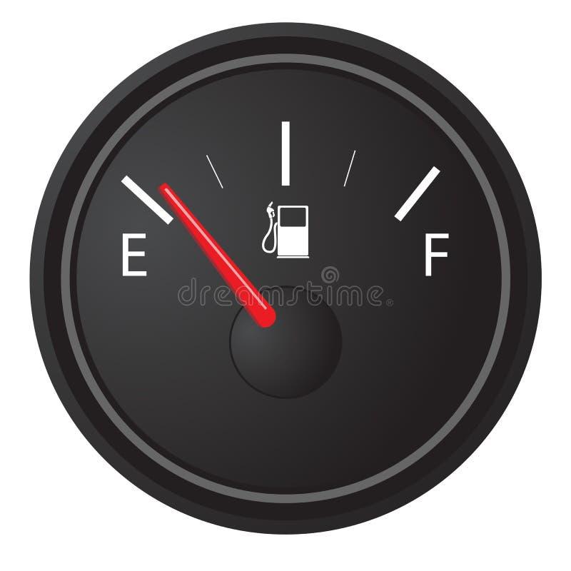Calibrador del gas stock de ilustración