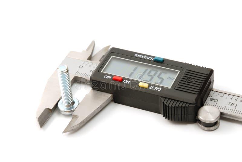 Calibrador digital electrónico fotografía de archivo libre de regalías