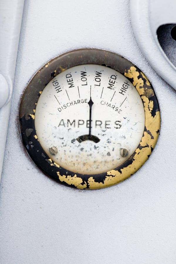 Calibrador retro del amperio fotos de archivo libres de regalías