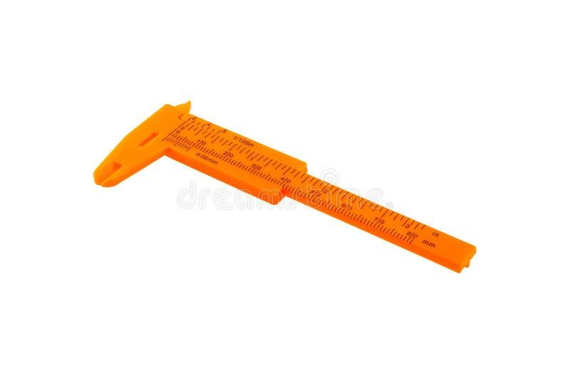 Calibrador a vernier anaranjado fotografía de archivo libre de regalías