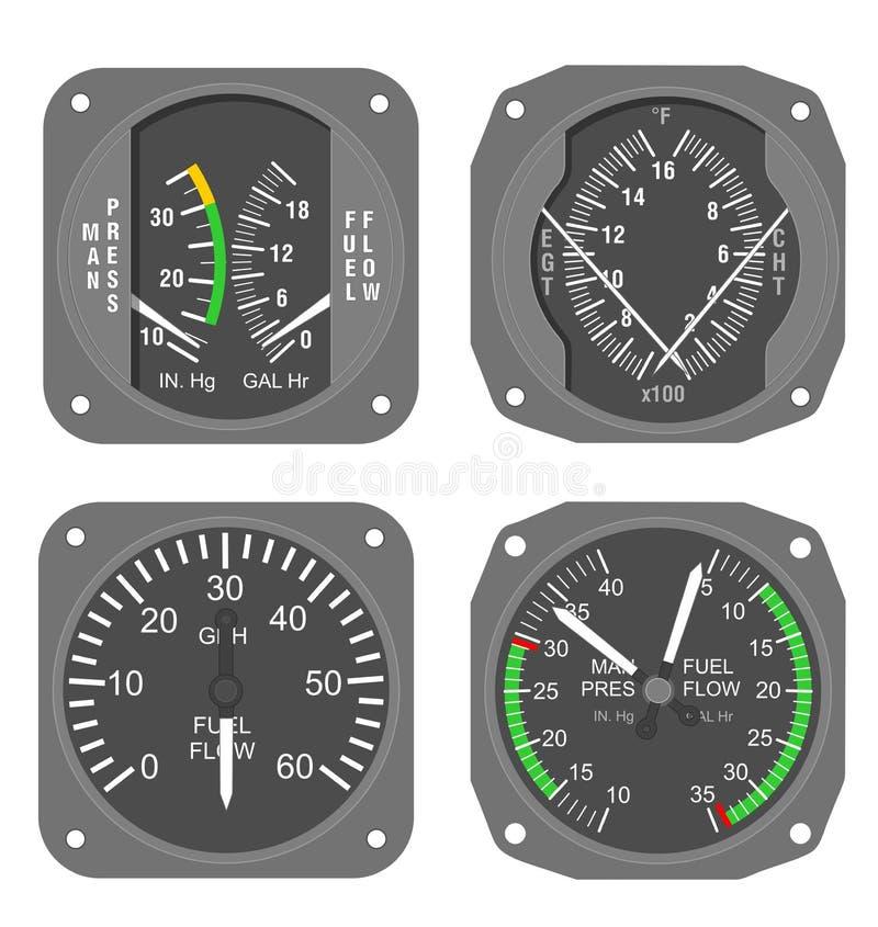 Calibradores de los aviones (#1) imágenes de archivo libres de regalías