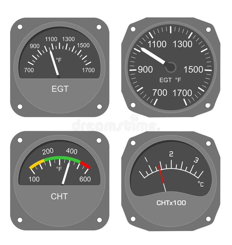 Calibradores de los aviones (#2) imagen de archivo libre de regalías
