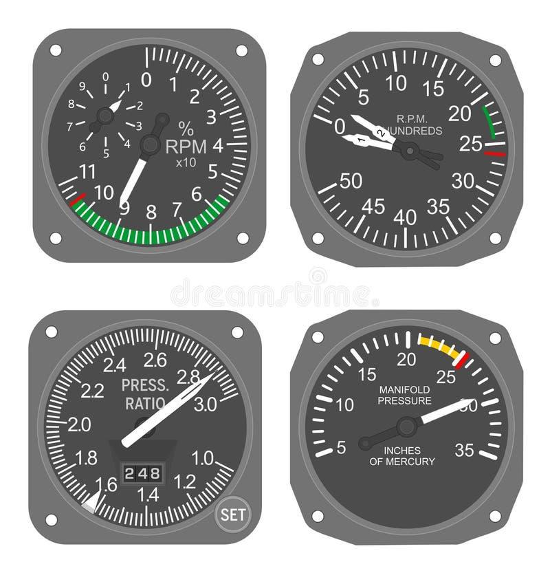 Calibradores de los aviones (#6) foto de archivo