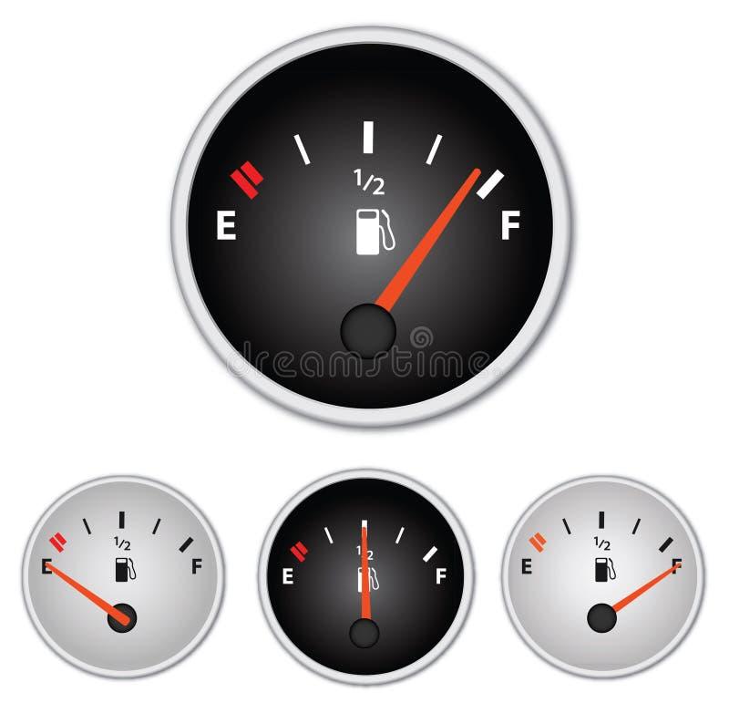 Calibradores del gas stock de ilustración