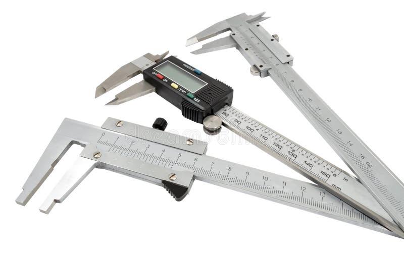 Calibradores a vernier imagen de archivo
