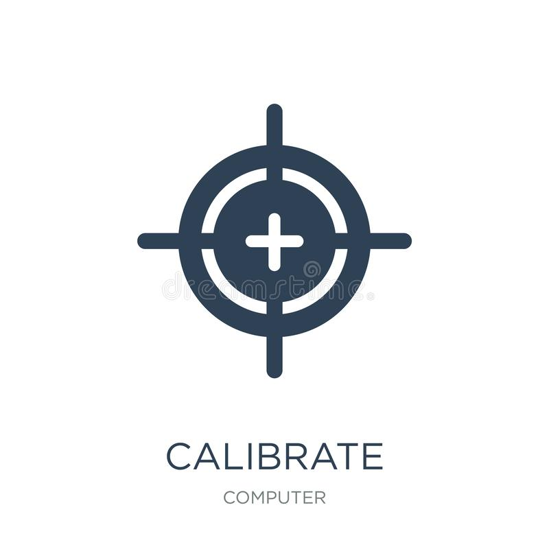Calibrate icon in trendy design style. calibrate icon isolated on white background. calibrate vector icon simple and modern flat. Symbol for web site, mobile vector illustration