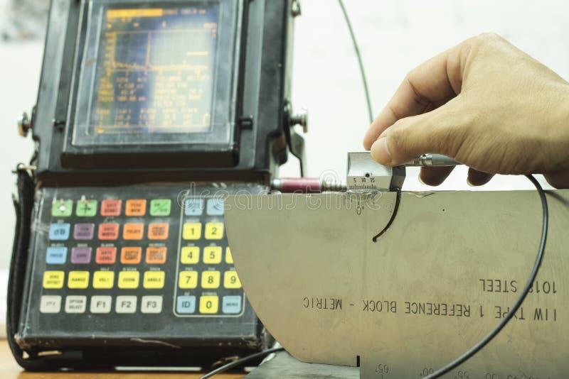 Calibration standard probe of ultrasonic test stock photos