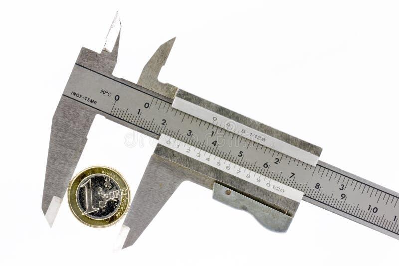 Download Calibrator euro jeden obraz stock. Obraz złożonej z europejczycy - 23245263