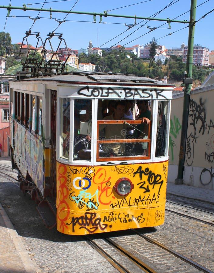 Calibratore per allineamento giallo a Lisbona immagini stock