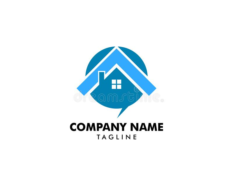 Calibre à la maison de conception de logo d'entretien illustration de vecteur