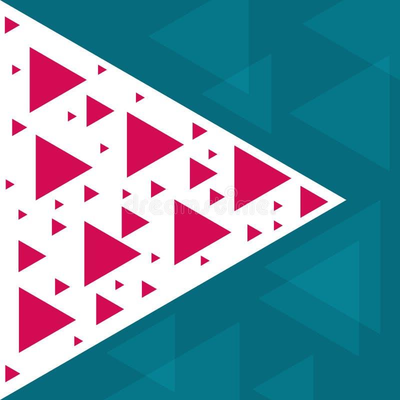 Calibre à la mode abstrait avec différentes formes et textures géométriques image libre de droits