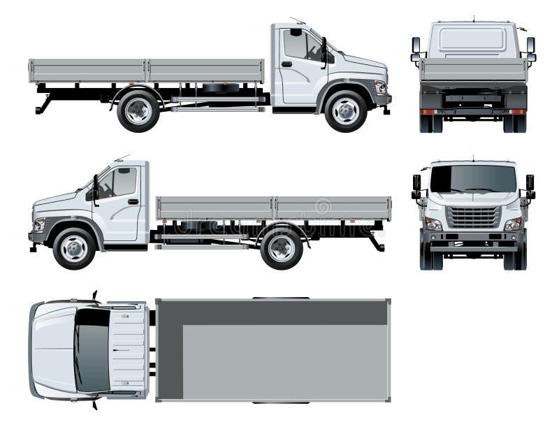 Calibre à plat de camion de vecteur d'isolement sur le blanc illustration libre de droits