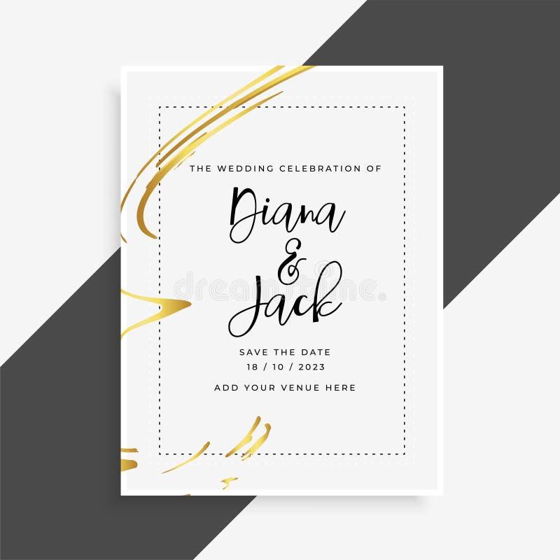Calibre élégant d'invitation de carte de mariage illustration stock