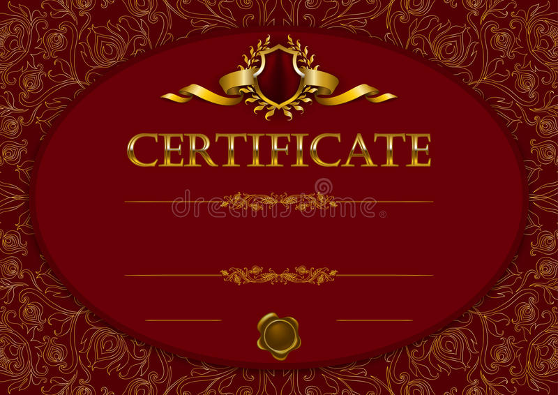 Calibre élégant de certificat, diplôme illustration de vecteur