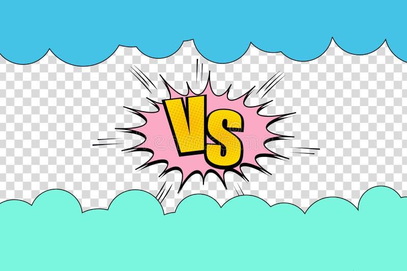 Calibre élégant de duel comique illustration de vecteur