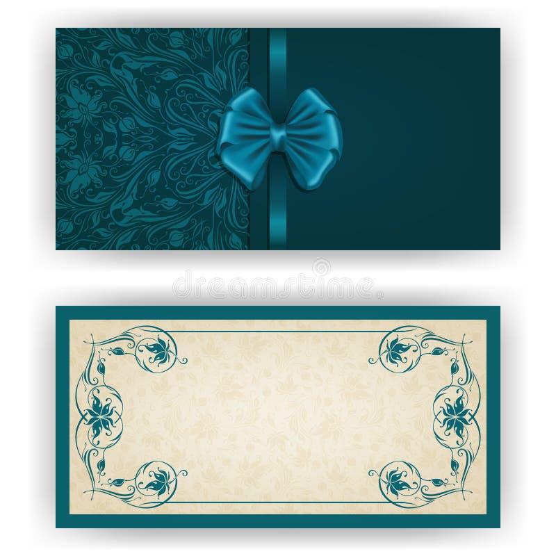 Calibre élégant de vecteur pour l'invitation de luxe, illustration stock