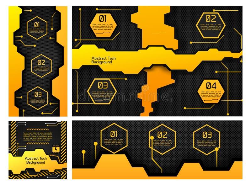 Calibre électronique abstrait d'Infographic illustration stock