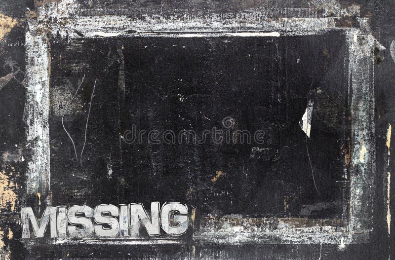 Calibre absent de signe photo libre de droits