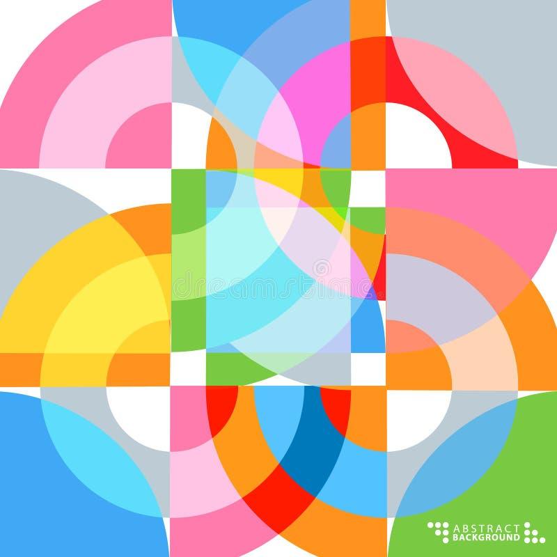 Calibre abstrait coloré géométrique de conception de fond illustration libre de droits