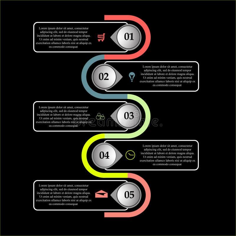 Calibre abstrait courant d'infographics d'affaires illustration libre de droits