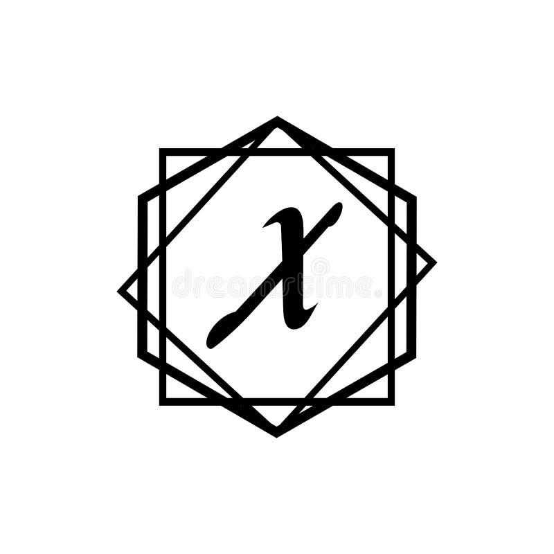 Calibre abstrait d'entreprise de conception de logo de vecteur d'unité d'affaires de la lettre X illustration libre de droits