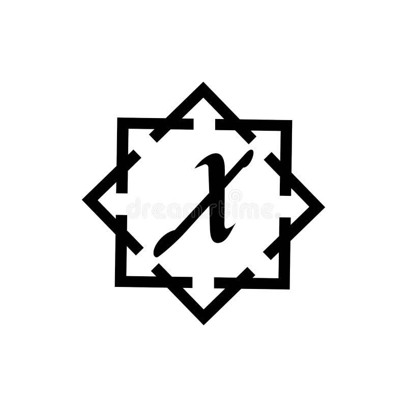 Calibre abstrait d'entreprise de conception de logo de vecteur d'unité d'affaires de la lettre X illustration stock