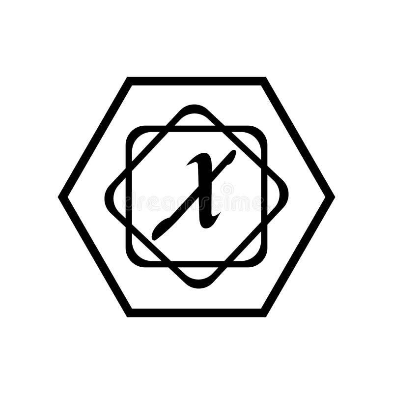 Calibre abstrait d'entreprise de conception de logo de vecteur d'unité d'affaires de la lettre X illustration de vecteur